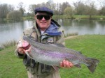 Ernest Duggar landed this 12.5lb rainbow during a day's guided fly fishing in England...