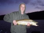 Colin with the biggest brown of the trip...