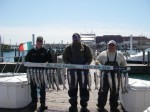 Mike, Craig and Rick with our limits of Coho...