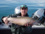 Mark with a nice cutthroat from the recent trip...