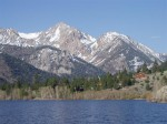 What a view of the Sierra's from Lower Twin Lake.