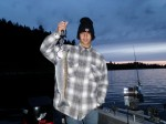 My middle grandson, Alec, with his best kokanee. The 4 LB.+ hen was 22 in. long!