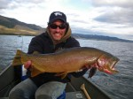 Vance with a large Yellowstone Cutthroat